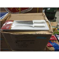 Case of New 2 Piece Carving Sets - 36 Per Case