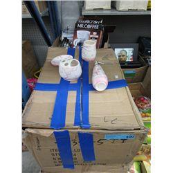 Case of New Glazed Ceramic Bathroom Sets