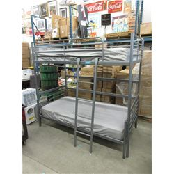Metal Bunk Bed with Ladder