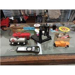 Vintage Scale, Tin Litho Train Cars & More