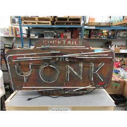 "Neon ""The Yonk"" Bar Sign"