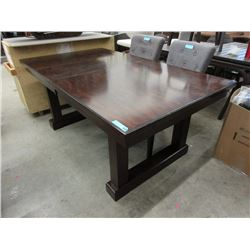 Wood Dining Table with Pop Up Leaf