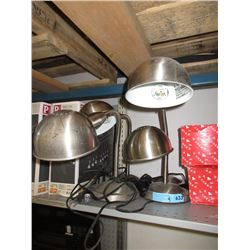 4 Stainless Steel Desk Lamps