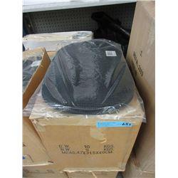 Case of New Non Slip Plastic Place Mats - Black