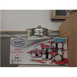 10 Piece 18/10 Stainless Steel Cookware Set