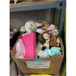 Box of Children's Toys & Clothing