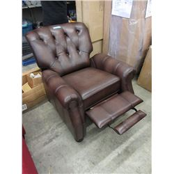 New Brown Leather Push Back Recliner