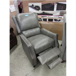 New Grey Amax Leather Push Back Recliner