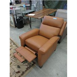 New Amax Caramel Leather Push Back Recliner