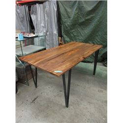 New LH Contemporary Wood Dining Table