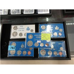 Five 1970's Complete Canadian Coin Sets