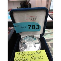 1992  Pavel Bure 1 Ounce .999 Fine Silver Round