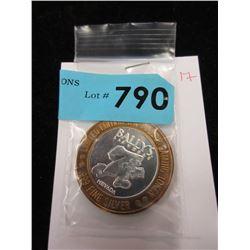 .999 Fine Silver  Bally's Las Vegas  $10 Token