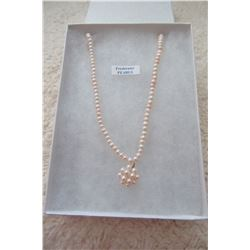 STERLING SILVER GENUINE FRESHWATER PEARL NECKLACE
