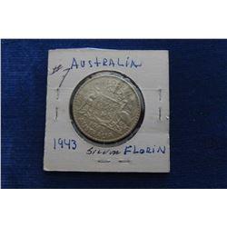 1943 AUSTRALIAN KING GEORGE VI SILVER FLORIN