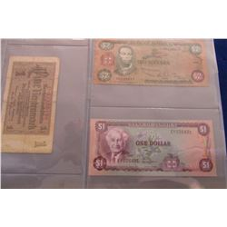 STOCK SHEET COLLECTABLE WORLD CURRENCY BANK NOTES