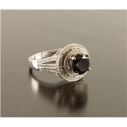 Ladies Black Diamond Ring Set