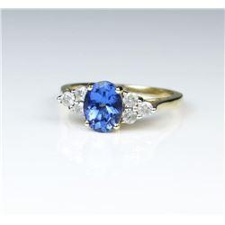 Classic Tanzanite & Diamond Ring