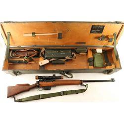 **Enfield L42A1 Sniper Rifle w/Case