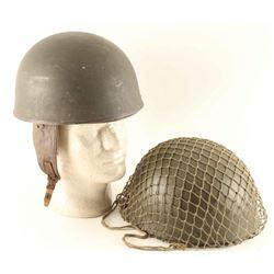 Lot of 2 WWII British Paratrooper Helmets