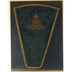 Royal Horse Artillery Officers Charger Shabraque