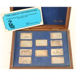 The Great Locomotives Franklin Mint Set