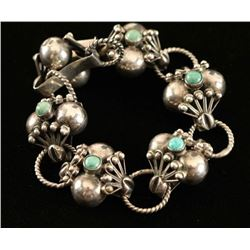 Mexican Silver & Turquoise Bracelet