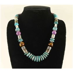 Tommy Rose Singer Turquoise Bead Necklace
