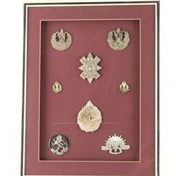 Framed Scottish & Austrailian Badges