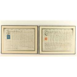 Framed Apprenticeship Documents