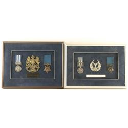 Lot of 2 Framed Medal Collections