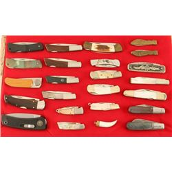 Large Collection of Pocket Knives