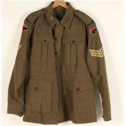 Australian WWII Artillery Coat & Hat