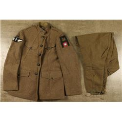 Enlisted Jacket with Patches & Trousers