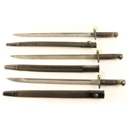 Lot of 3 Bayonets