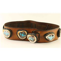 Elkhorn Inlaid Concho Belt