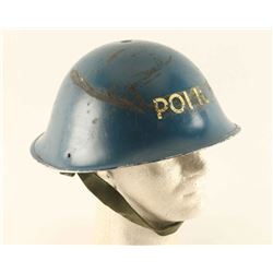 WW2 British Police steel helmet