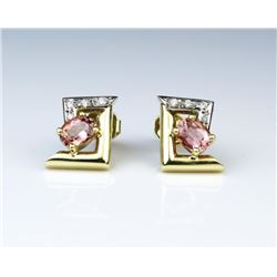 Contemporary Styled Pink Tourmaline & Diamond