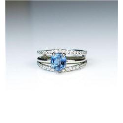Stunning Cornflower Blue Sapphire & Diamond Ring