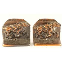 Vintage Racehorse Bookends