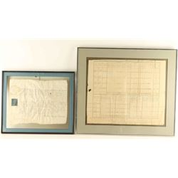 Framed Antique Documents
