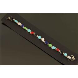 Turquoise Multi Gemstone Tennis Bracelet