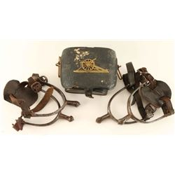 Cavalry Spurs & Case