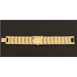 Bulova 18K Overlay Gold Mens Watch