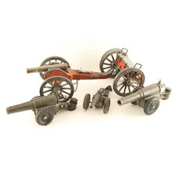 Lot of 4 Miniature Cannons
