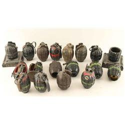 Lot of 18 Grenades