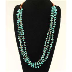 Santo Domingo Style Three Strand Necklace