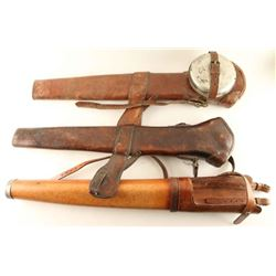 Lot of 3 Leather Rifle Scabbards