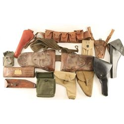 Lot of Military Gun Leather & Webbing Accessories