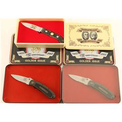 Lot of 3 S&W 150th Anniversary Knives